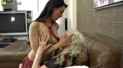 Hairy granny, Young girl, Young lesbian, Lesbian mature