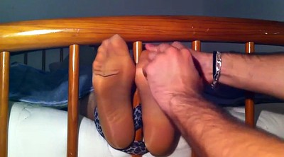 Tickle, Nylon feet, Nylon foot, Tickling