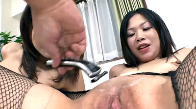 Japanese pussy, Japanese pantyhose, Hairy creampie