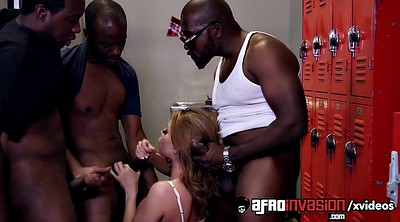 Blowbang, Interracial blowbang, Locker
