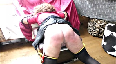 Spanking, Crossdress, Hard spanking, Crossdressers