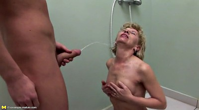 Pissing, Mother son, Mature anal, Anal granny, Mother and son, Anal grannies
