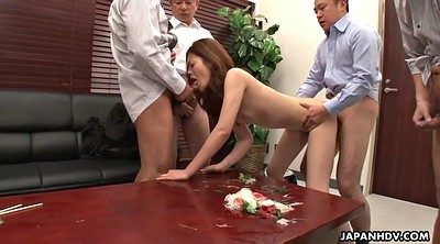 Yui, Japanese office, Asian gangbang, Colleagues, Creampie gangbang, Japanese lick