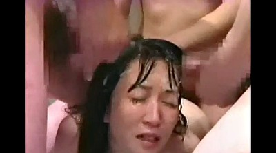 Japanese bukkake, Face, Bukkake asian
