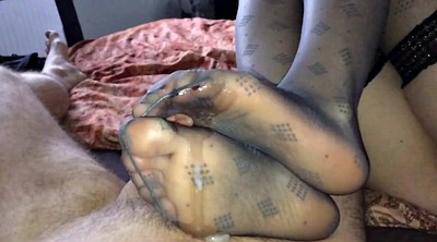 Milk, Nylon, Sole, Nylon feet, Sexy lingerie, Feet nylon