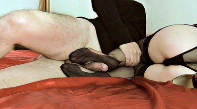 Nylon footjob, Pantyhose footjob, Mature feet, Mature foot, Mature nylon, Pantyhose feet