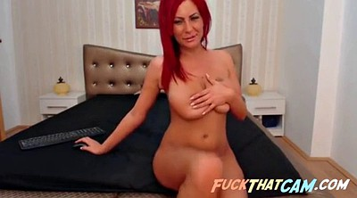 Strip, Big tits webcam, Red hair, Redhead solo