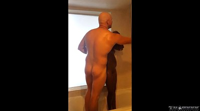 Teen shower, Ginger, Black old man