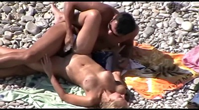 Public, Beach, Nudist, Sex on the beach, Couple amateur