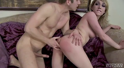 Spanks, Swallow big tits, Pounded, Lily labeau
