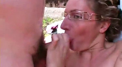 Deep throat, Public sex, Outdoor mature