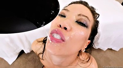 Brutal deep throat, Double dildo, Asian fisting