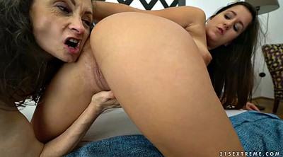 Tricked, Trick, Granny lesbians, Show, Milly, Mature show