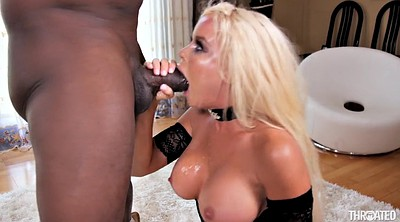 Monster cock, Monster black cock, Nikki delano, Mouth fuck