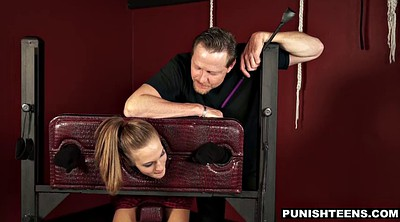 Young girl, Deep throat, Spanking punishment, Young skinny