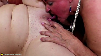 Group sex, Old and young, Mature foursome, Lesbian foursome