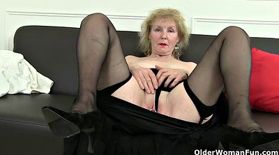 Mature pantyhose, British mature