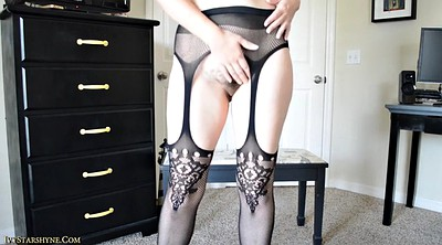 Hairy solo, Lingerie, Private, Hairy pantyhose, Cock tease, Pantyhose tease