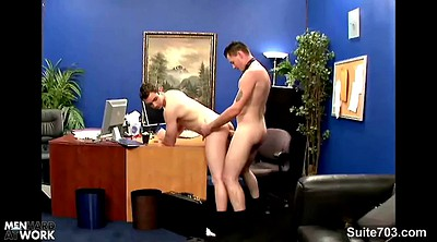 Young boy, Officer, Suit, Two boys, Young blowjob, Office gay