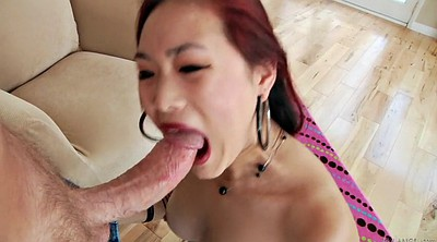 Gagging, Thick, Asian deep throat, Asian white