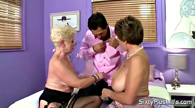 Saggy, Saggy tits, Granny handjob, Big boobs milf, Granny tits, Granny threesome