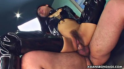 Latex, Shaking, Shake, Licking ass, Japanese bdsm, Asian cumshot