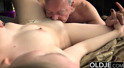 Old, Pussy licking, Old man and young, Cum on pussy, Pussy fuck, Old man young
