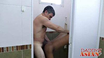 Asian mature, Daddy anal, Bathe, Asian daddy