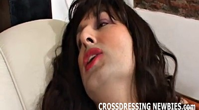 Crossdresser, Crossdress, Man masturbation
