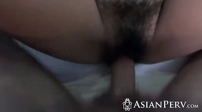 Asian milf, Hairy pussy, Pussy close