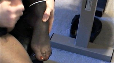 Crossdresser, Nylon feet, Nylon anal, Crossdressers