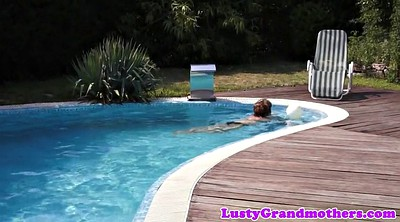 Swimming pool, Amateur bbw granny