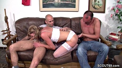 German, Threesome, Porn