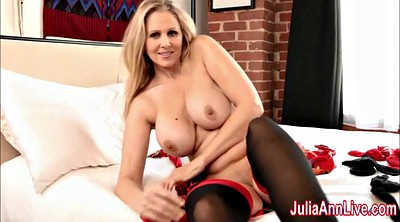 Julia ann, Anne, Stocking foot, Milf feet