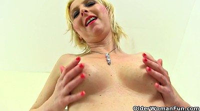 Huge dildo, British, English, British milf
