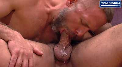 Kissing, Hairy daddy, Muscular, Latino
