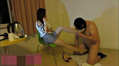 Footjob, Chinese footjob, Chinese asian