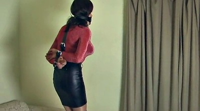 Crossdresser, Leather, Skirt