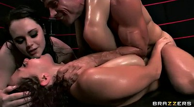Wrestling, Naked, Bbw threesome
