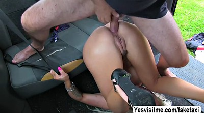 Taxi, Outdoor, Taxi driver, Taxi anal, Public anal