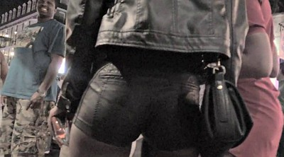 Leather, Shorts, Candid