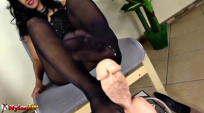 Footjob, Pantyhose footjob, Pantyhose feet
