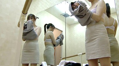 Caught, Japanese voyeur, Japanese spy, Changing