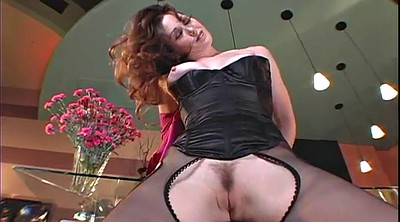 Pantyhose, Red, Red milf, Red hair