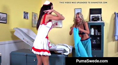 Nurse, Threesome, Blonde, Puma swede, Doctor lesbian, Doctor girl