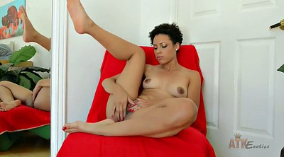 Black, Sofa, Solo shaved fingering, Shorthair