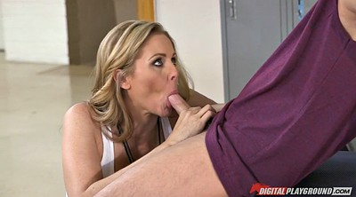 Julia ann, Ball sucking, Blonde milf