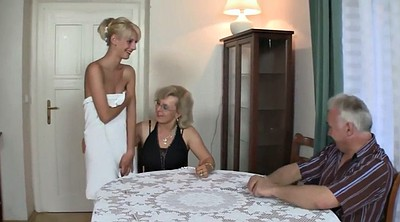 Young couple, Seduced, Big tits granny