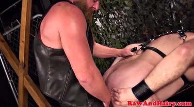 Bear, Leather, Hairy mature masturbation