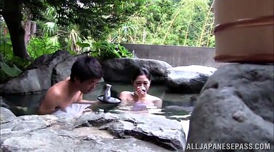 Japanese threesome, Japanese outdoor, Japanese double, Double blowjob